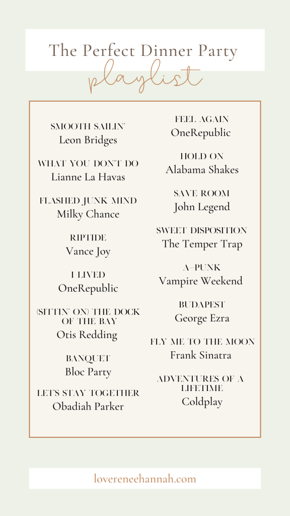 Perfect Dinner Party Playlist